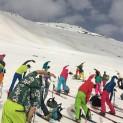 4.Den se začíná cvičením na sněhu