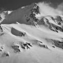 Jeden z utajených vrcholů v oblasti Maighels glacier